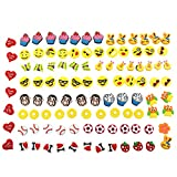 100 Pack 3D Shoe Charms for Croc Shoes & Jibbitz Bands Bracelet Wristband, Charms for Croc