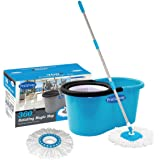 Primeway Pw266Me Double Driver Economy Magic Mop Set with 2 Mop Heads (Blue)