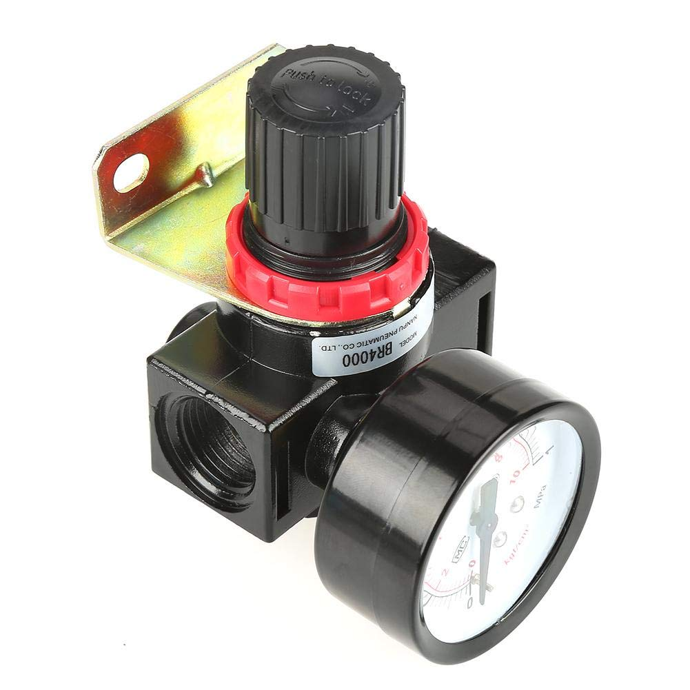 vanne de r/égulation avec port de jauge 0.05~1MPa r/églable 2 contr/ôle de la pression du compresseur de contr/ôle de lair 1pc BR4000 G1