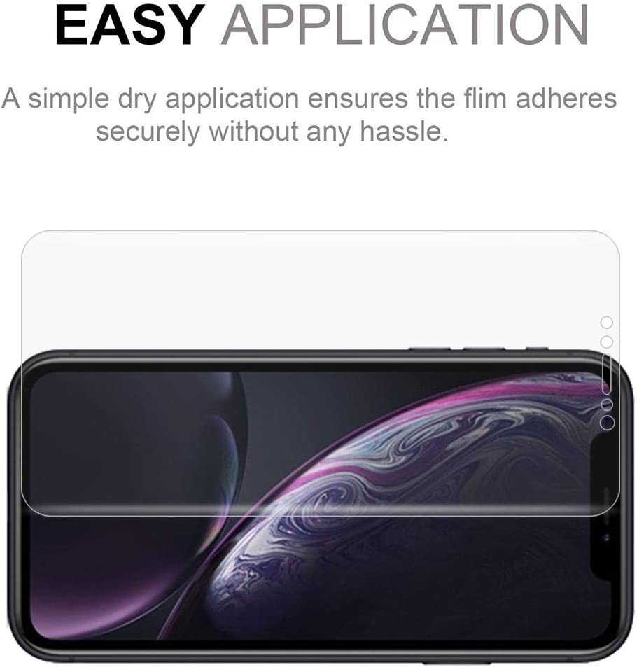 Color : Color2 LGYD for 0.1mm 3D Curved Edge HD PET Full Screen Protector for iPhone XR