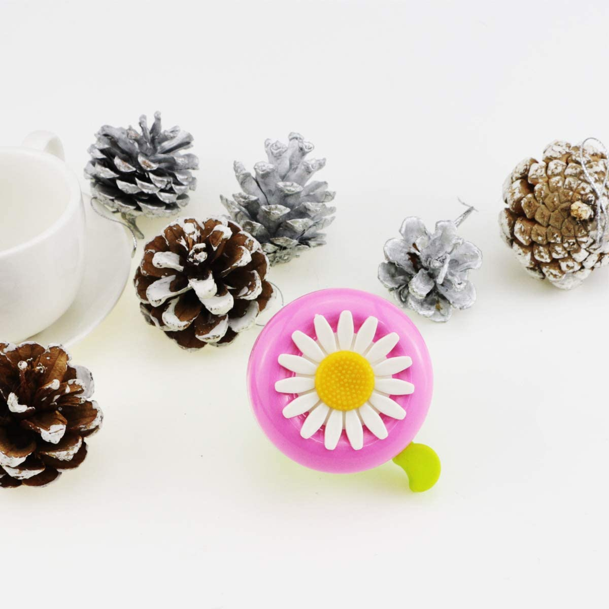 Oruuum Bicycle Bells and The Voice is Clear and Loud. Bell with Plastic Flowers Childrens Bicycle Bells Bicycle Accessories Retro Bicycle Bells