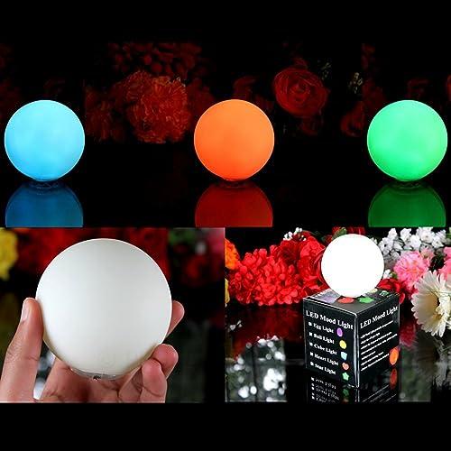 PK Green Mood Lamps Ball Sensory LED Lights - Mini Sphere Orb Colour Changing Mood Lighting for Party, Wedding   Set of 3