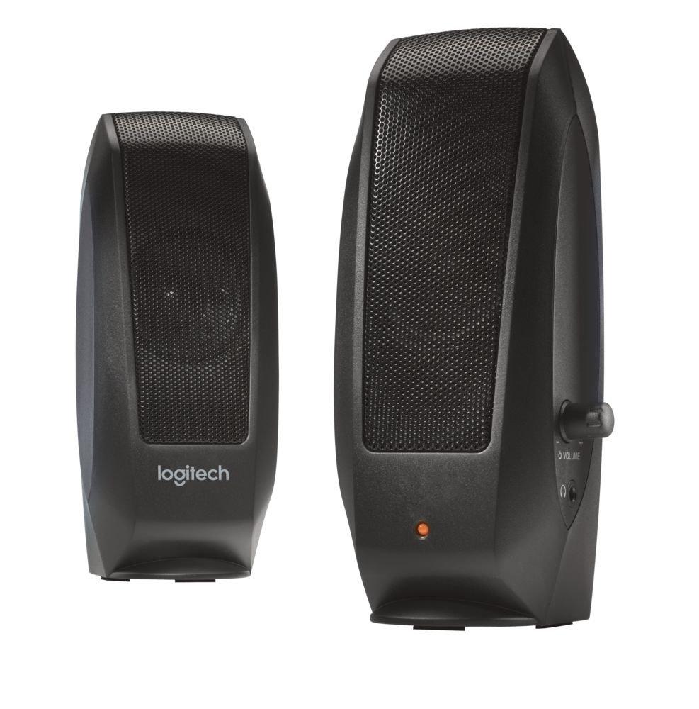 Logitech S-120 2.0 PC-Lautsprecher-System OEM schwarz 980-000011