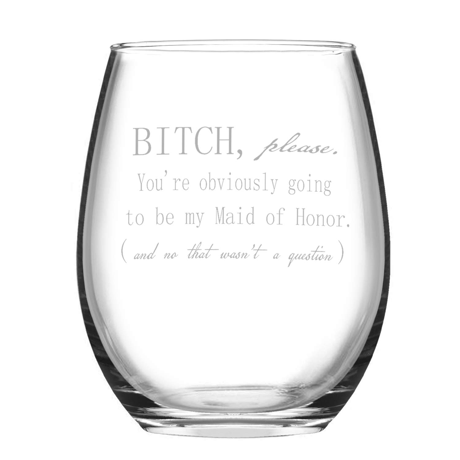 Wine Glass Fairy Godmother Funny Stemless Wine Glass 15oz Novelty Gift Funny Glass for Her Mom Wife Girlfriend Sister Besties Friends BFF Women Birthday