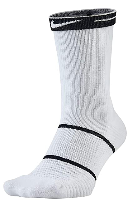 Nike Tennis Socks Court Essentials Crew Calcetines, Hombre, Blanco y Negro, Small