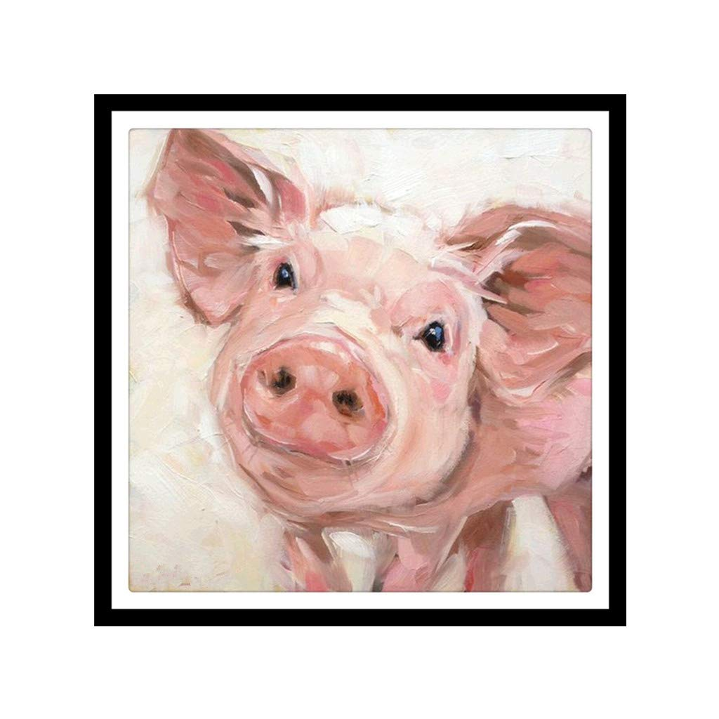 Cute Pig Bduco DIY 5D Diamond Painting Kit Full Drill Diamond Embroidery Rhinestone Cross Stitch Arts Craft Supply for Home Wall Decor