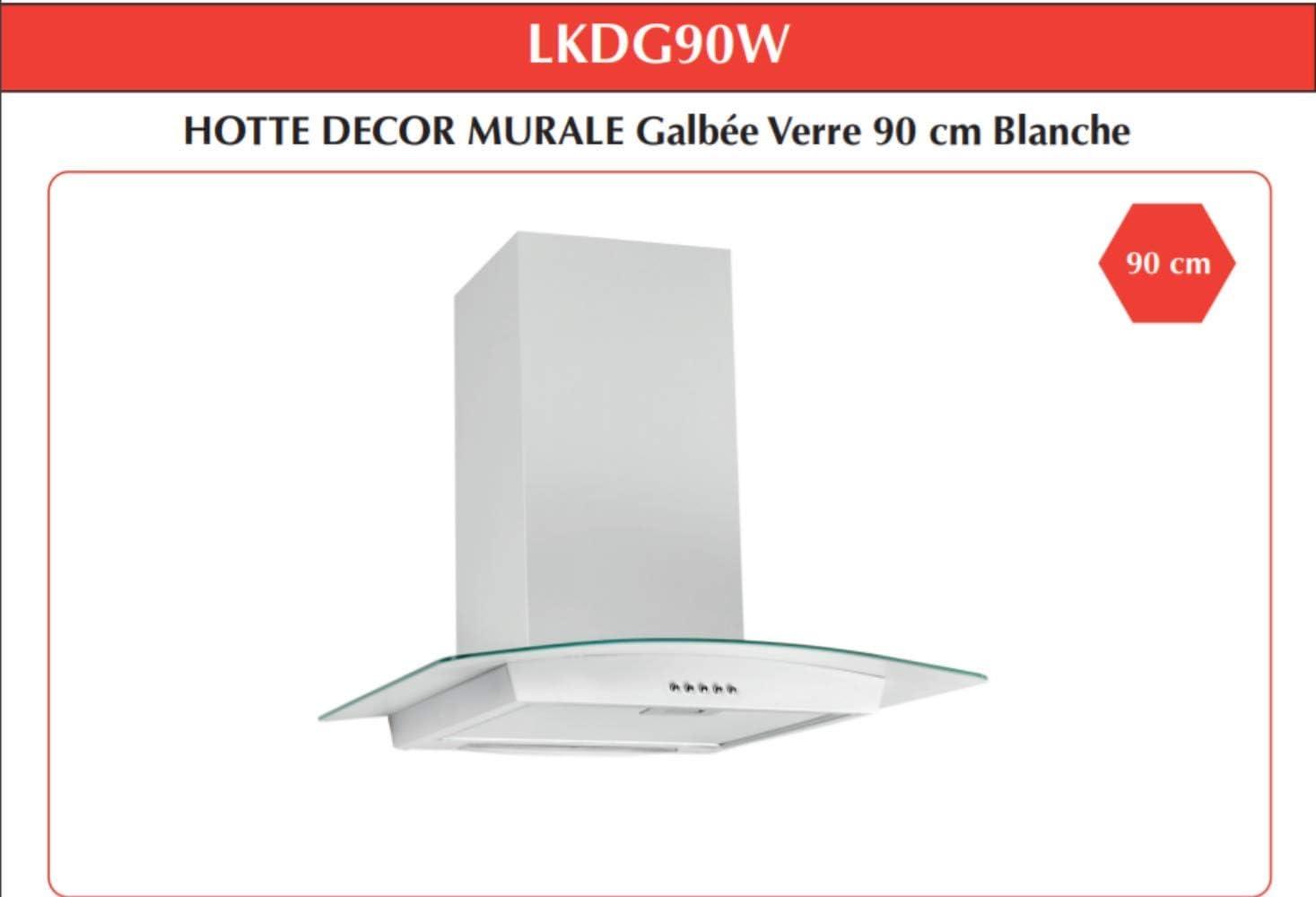 LINKEN LKDG60B – Campana decorativa de pared con cristal – 60 cm – Color negro – modo mixto con iluminación LED y controles mecánicos: Amazon.es: Bricolaje y herramientas