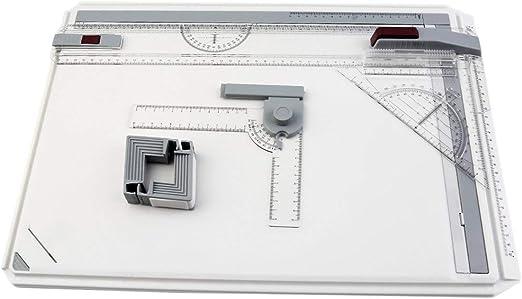 Mesa de tablero de dibujo portátil A3 con movimiento paralelo ...