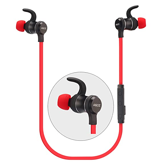 Agoz Wireless Headphones Earbuds Bluetooth Headset Compatible Apple iPhone  XS Max, XR, X, 8 Plus,8,7,6S Samsung Galaxy S10, S10e Note 9 8,S9,S8,J7,