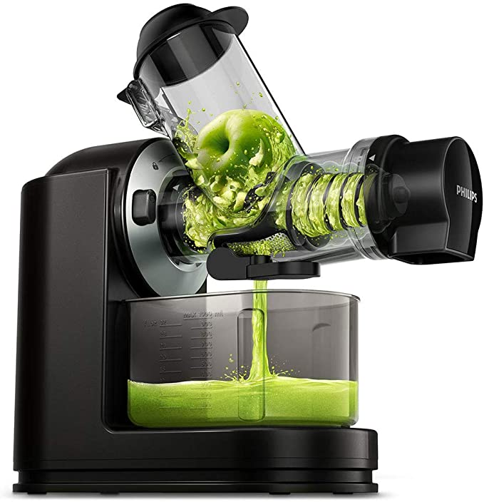 Philips Viva Cold Press Masticating Slow Juicer with X-Large Feed Tube...