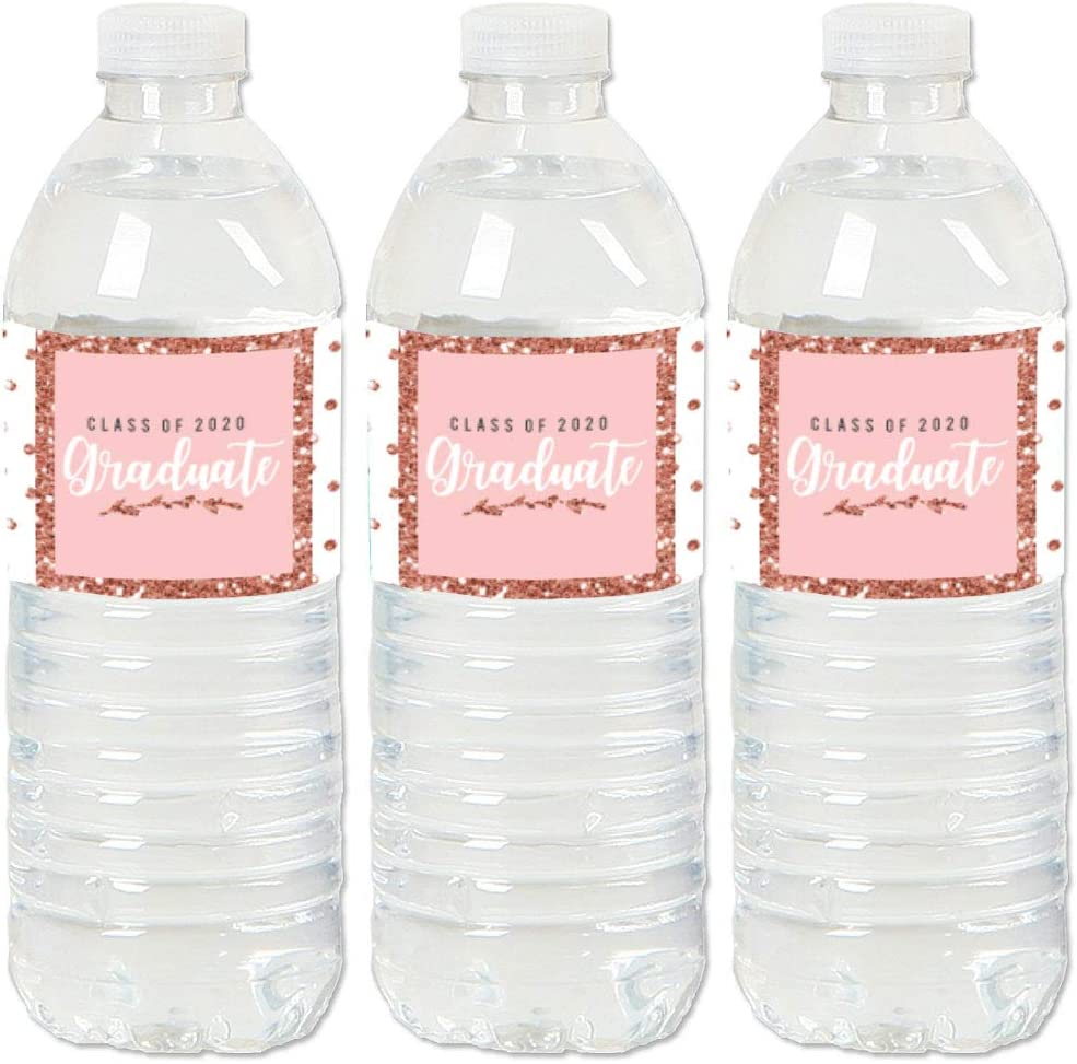 graduation water bottle labels