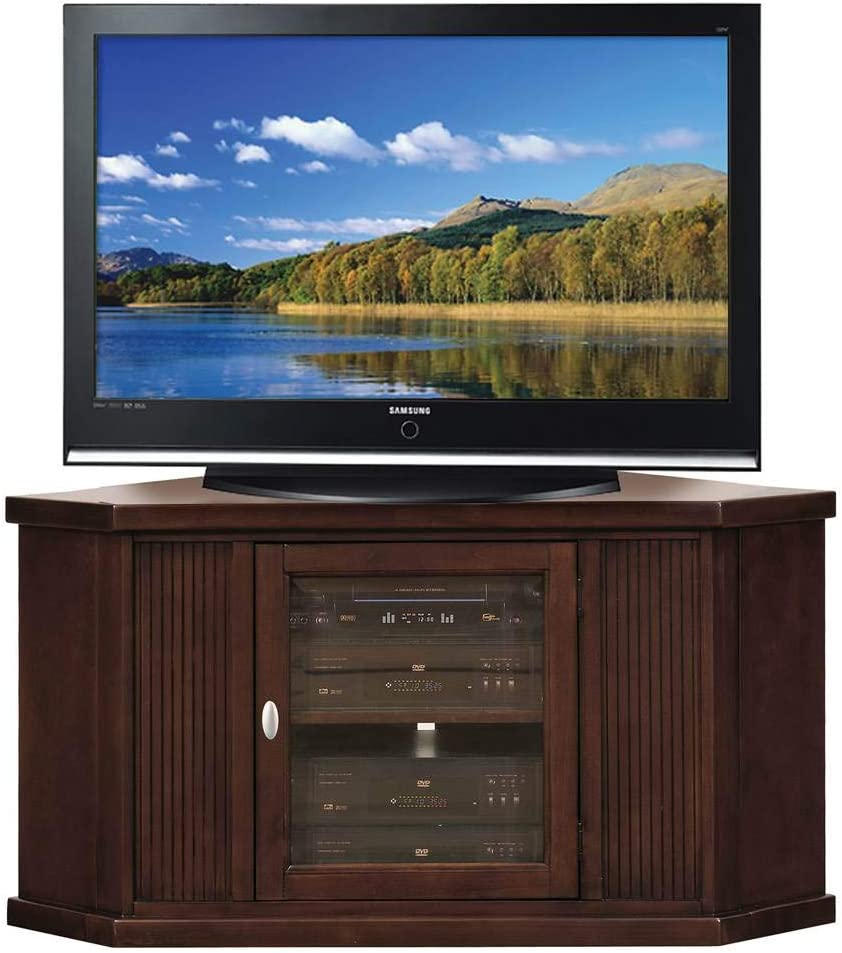 Leick Home Riley Holliday 46 Corner TV Stand, Chocolate Cherry Finish