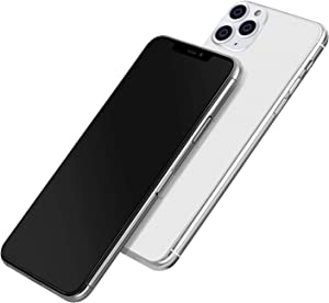 [Full Metal] Dummy Phone Display Model Compatible with Apple iPhone 11/11Pro MAX Non-Working Upgraded Metal Frame (11 Pro MAX Silver Darkscreen)