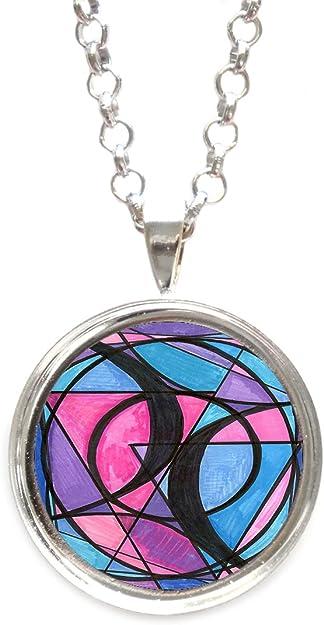 Photo Cabochon Glass Silver popular Pendants Necklace illusion