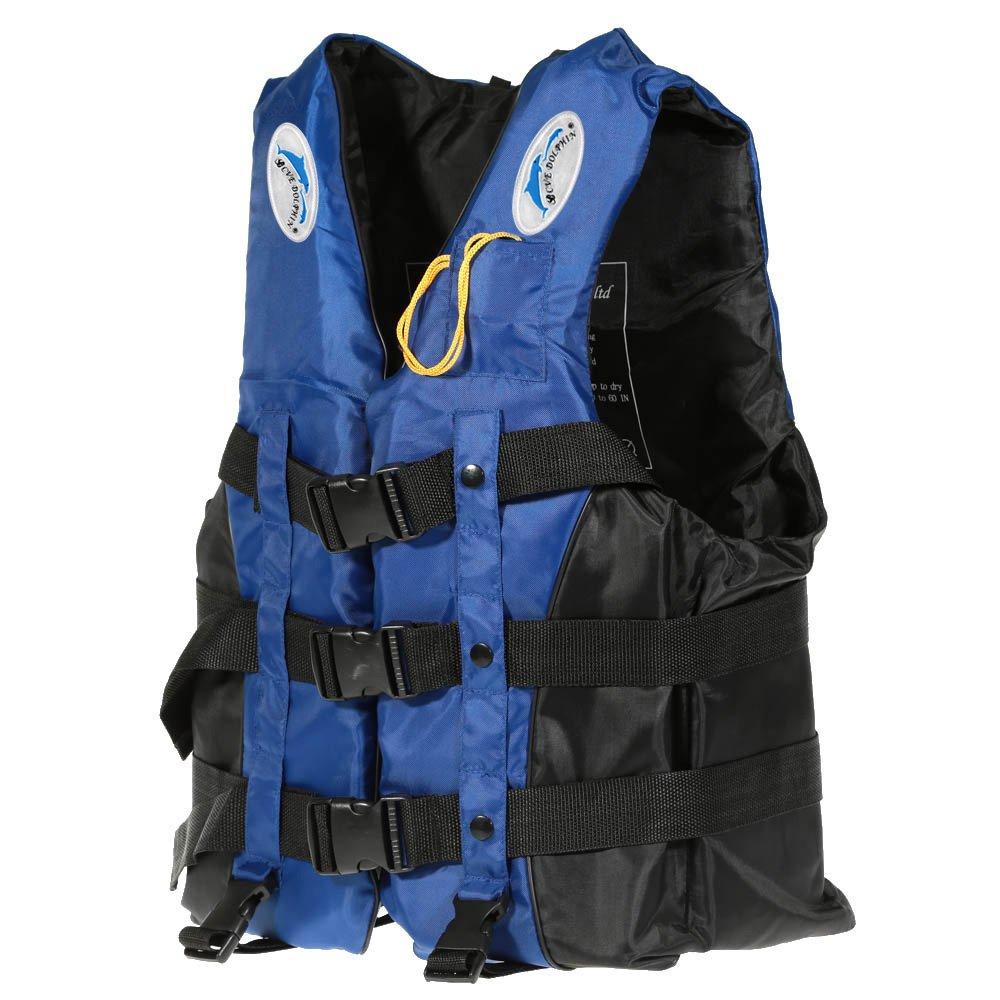 ライフジャケット XL/2XL Lixada 呼び子付け 110kgまでの負荷力 フローティングベスト L/ 大人用釣り 救命胴衣 男女兼用