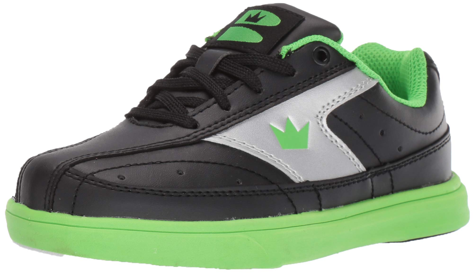 Brunswick Bowling Products Youth Renegade Bowling Shoes- 01 (Youth), Black/Neon Green, 1