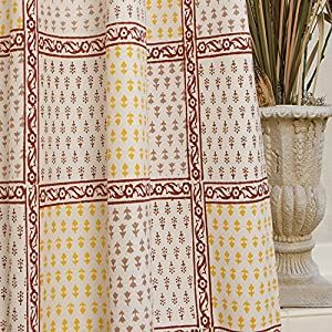 Attiser Shower Curtain French Country Red Home Kitchen