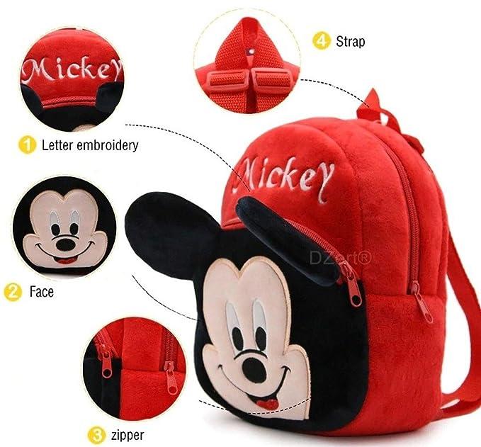 DZert Velvet Red 10 L Kids Teddy School Bag