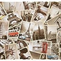 Dxhycc 32 PCS 1 Juego Postales antiguas retro antiguas de viaje para coleccionarlas