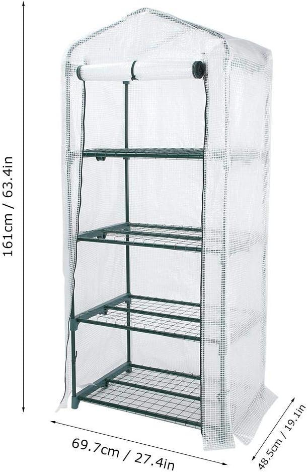 4 Levels Greenhouse for Garden Plants in PVC for Garden Plants 69x48.5x161cm
