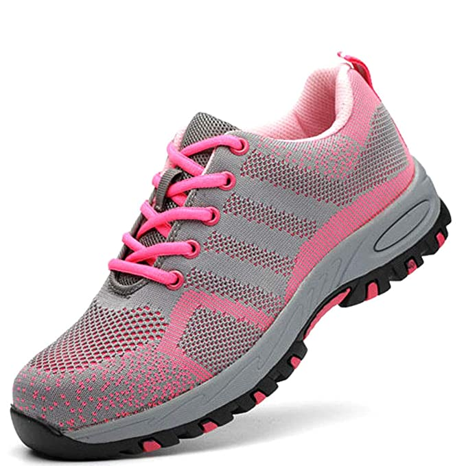 WODEQ Zapato Seguridad Mujer Zapatos Trabajo con Puntera de ...