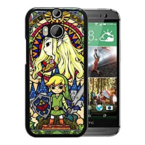 New Unique Custom Designed Case With Legend Of Zelda Black For HTC ONE M8 Phone Case
