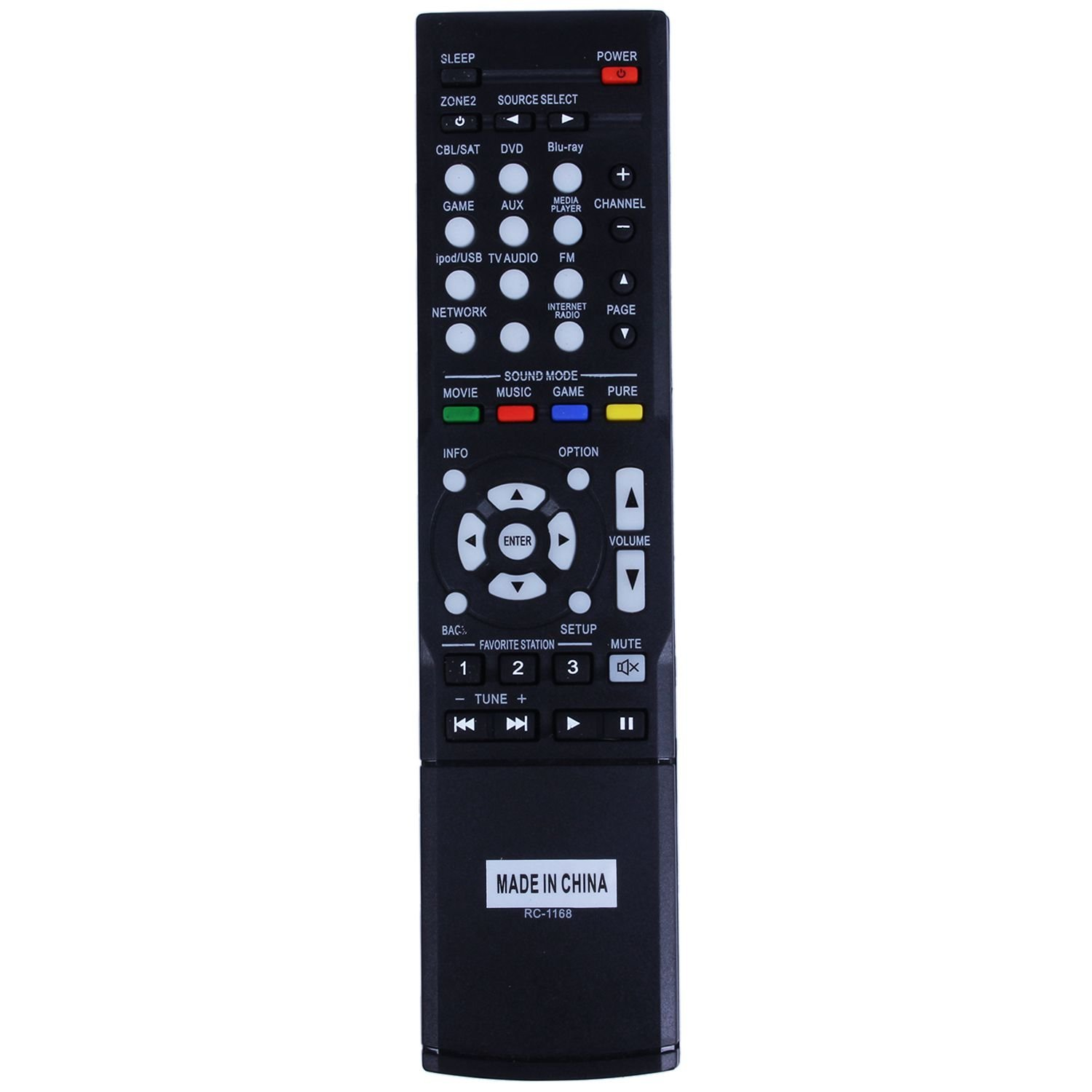 SODIAL ( R )リモートコントロールrc-1168 for Denon avr1613 avr1713 1912 1911 2312 3312受信機   B077ZK8Y9H