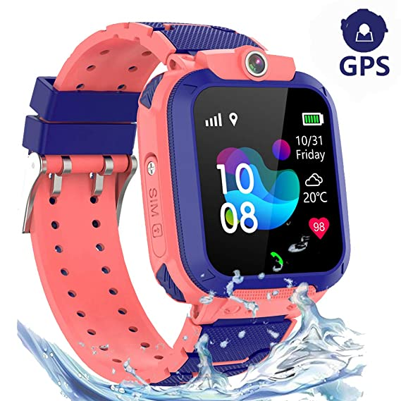 Reloj Inteligente Impermeable para niña, GPS Tracker Kids ...