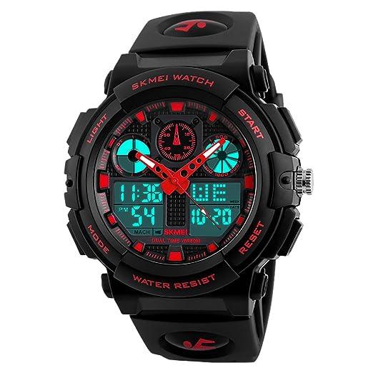 69f23be38633 amstt Unisex Reloj Deportivo Digital Reloj hombre mujer joven reloj de  pulsera militar Relojes con luz Despertador 5 ATM Agua densas Outdoor  analógico ...