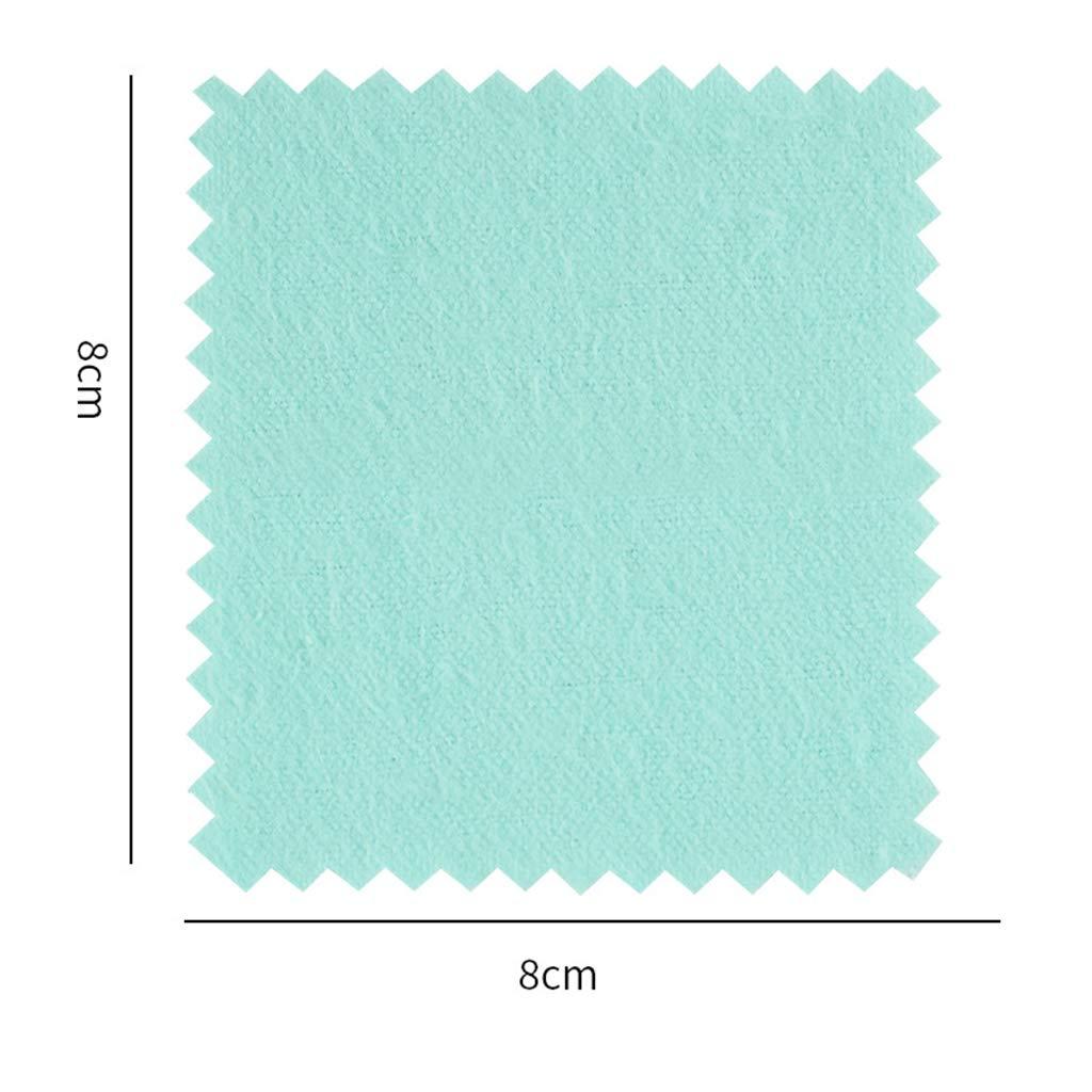 5 x Chiffon de Nettoyage pour Silver Gold Un polisseur de Coton Vert 80 Aofocy Chiffon de Nettoyage de qualit/é sup/érieure 80mm