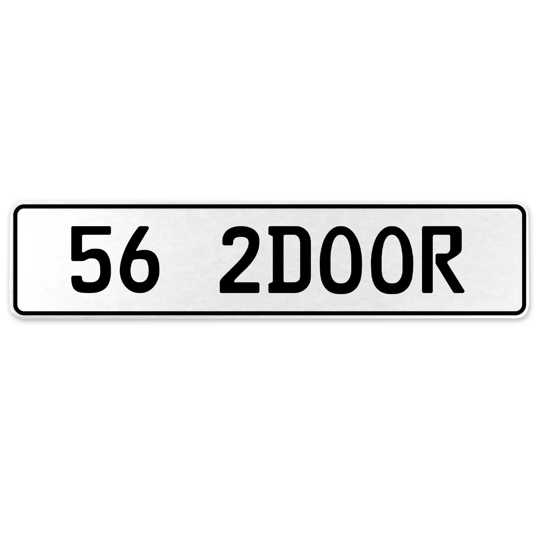 Vintage Parts 557920 56 2DOOR White Stamped Aluminum European License Plate