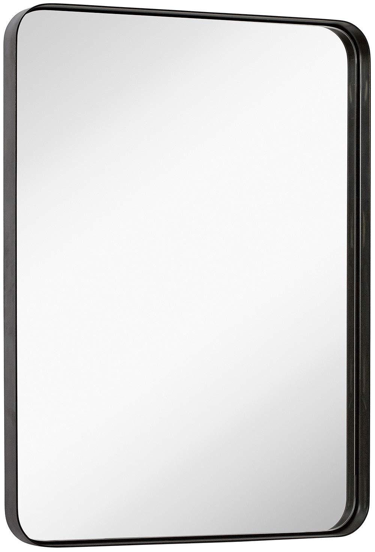 Home Kitchen Home Decor 1 2 Black Metal Rectangular Framed Mirror Leoriso 28 X 20 Wall Mirror Large Bathroom Mirror Horizontal Or Vertical Wall Mounted Mirror For Home Decor Menyari Com