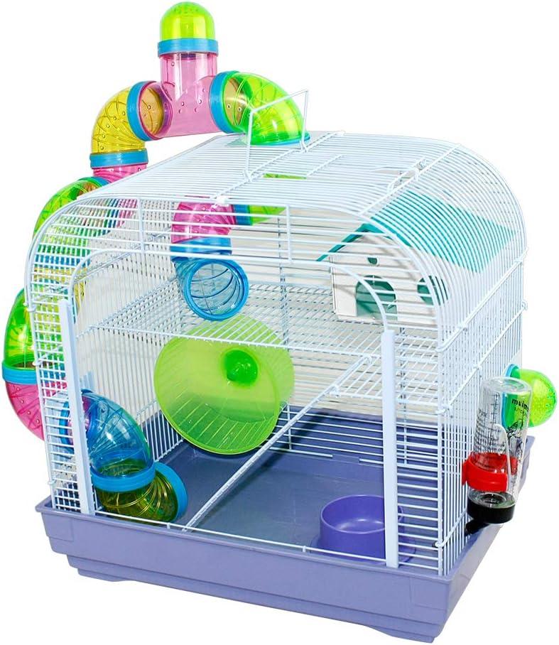 DZL Jaula para Hamster Medidas:(29.5X39.5X38CM) Color se Entrega Azar