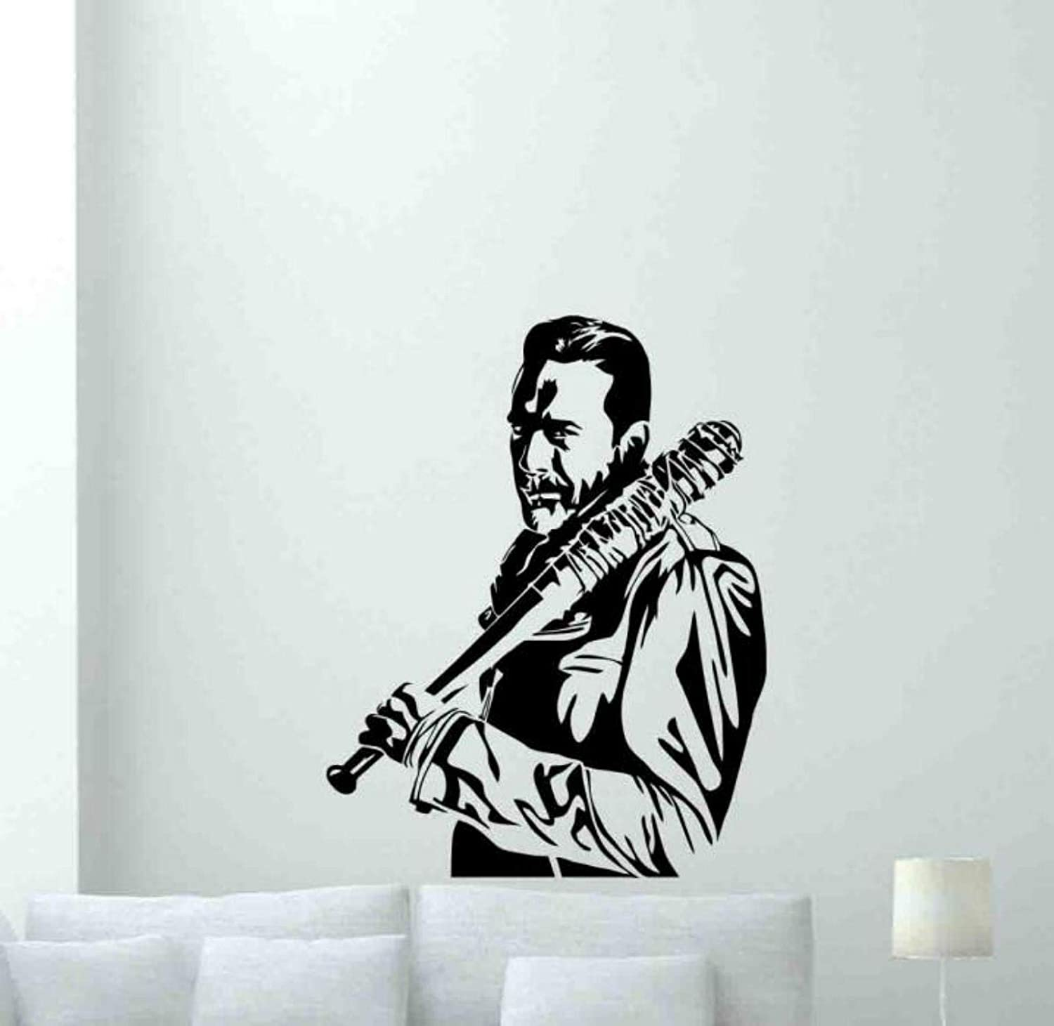 Kellysdesigns Walking Dead Wall Decal Negan Poster Vinyl Sticker Sign Movie Sign Celebrity Film Gifts Theater Wall Decor Cinema Wall Art Baby Kids Room Mural 1056