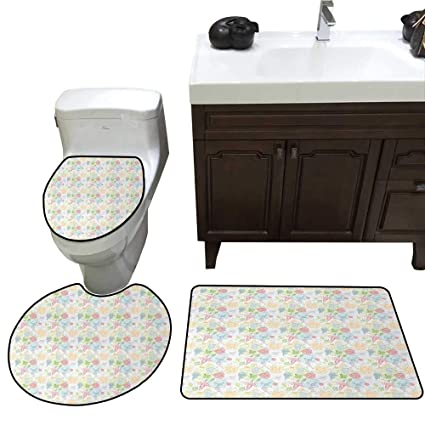 Amazon Com John Taylor Doodle Bath Mat And Toilet Mat Set Artistic