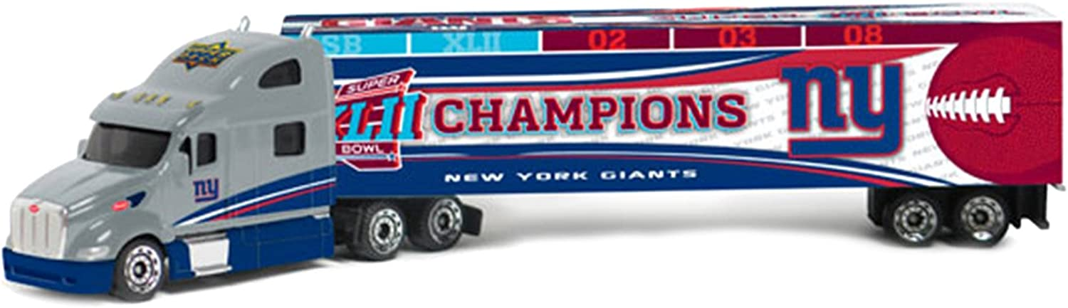 New York Giants Super Bowl XLII Champions Upper Deck Collectibles NFL Peterbilt Tractor-Trailer