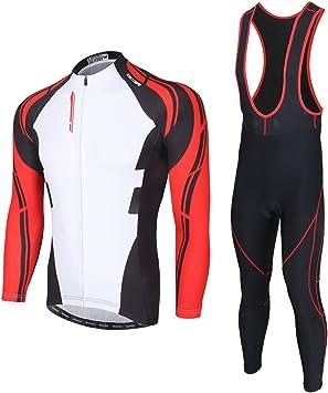 SKYSPER Ciclismo Maillot Hombres Jersey Pantalones Largos Culote ...