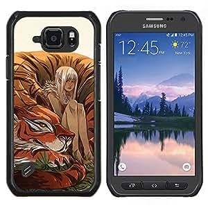 LECELL--Funda protectora / Cubierta / Piel For Samsung Galaxy S6Active Active G890A -- Tigre lindo Pintura Fairytale Naturaleza --