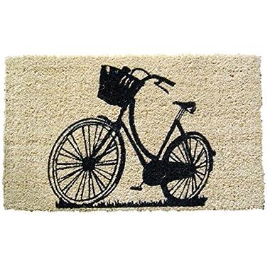 Entryways Bike Hand Woven Coir Doormat