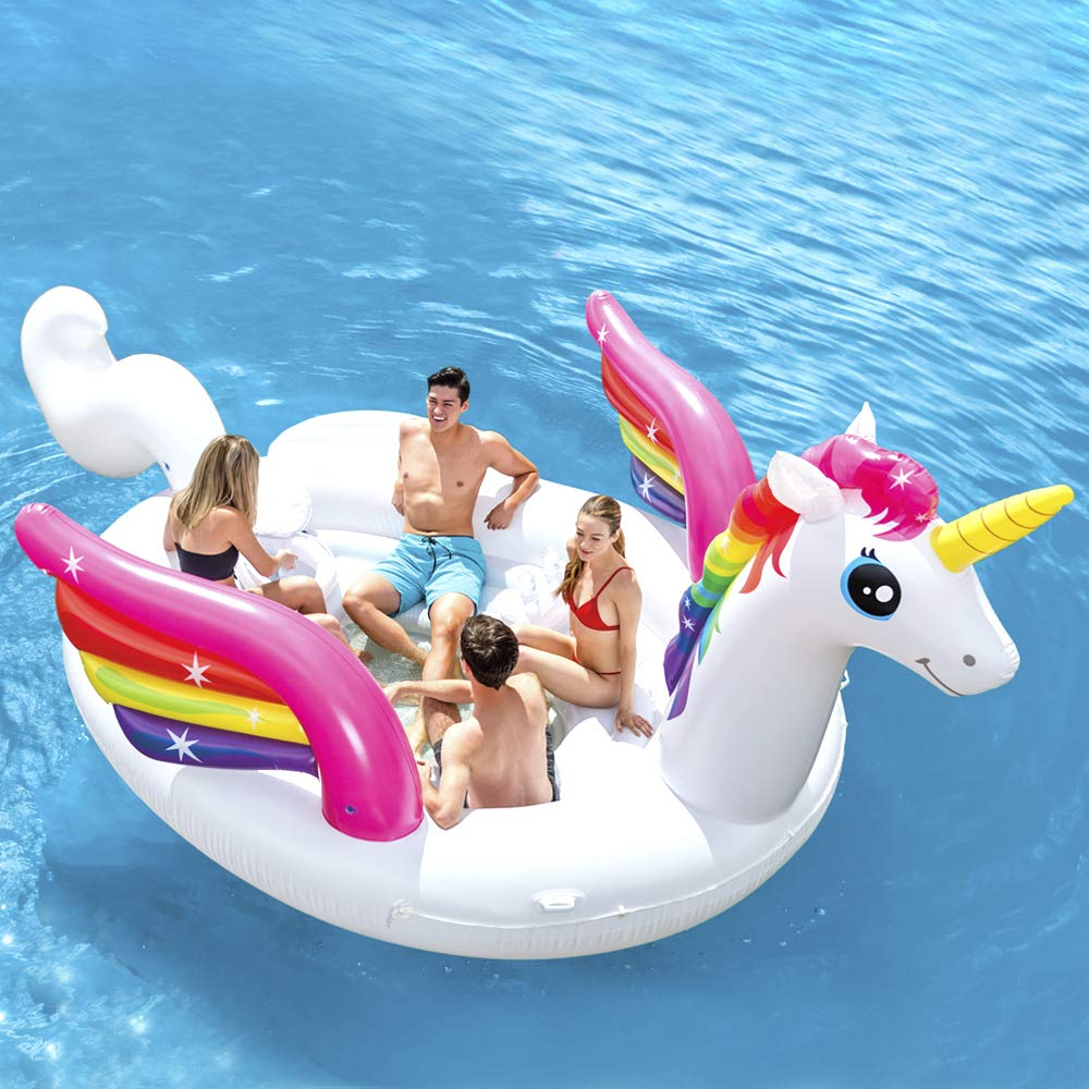 1 Größe Intex Unicorn Party Island