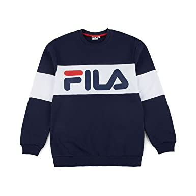 aaa5f069 Fila Straight Blocked Crew Men, Sweatshirt - M: Amazon.co.uk: Clothing