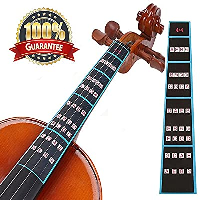 Violin Finger Guide Fingerboard Sticker Fret guide Label Intonation Finger Chart Fretboard for Practice Beginners Size 4/4,3/4 ,2/1,4/1,8/1,10/1 by Meiso