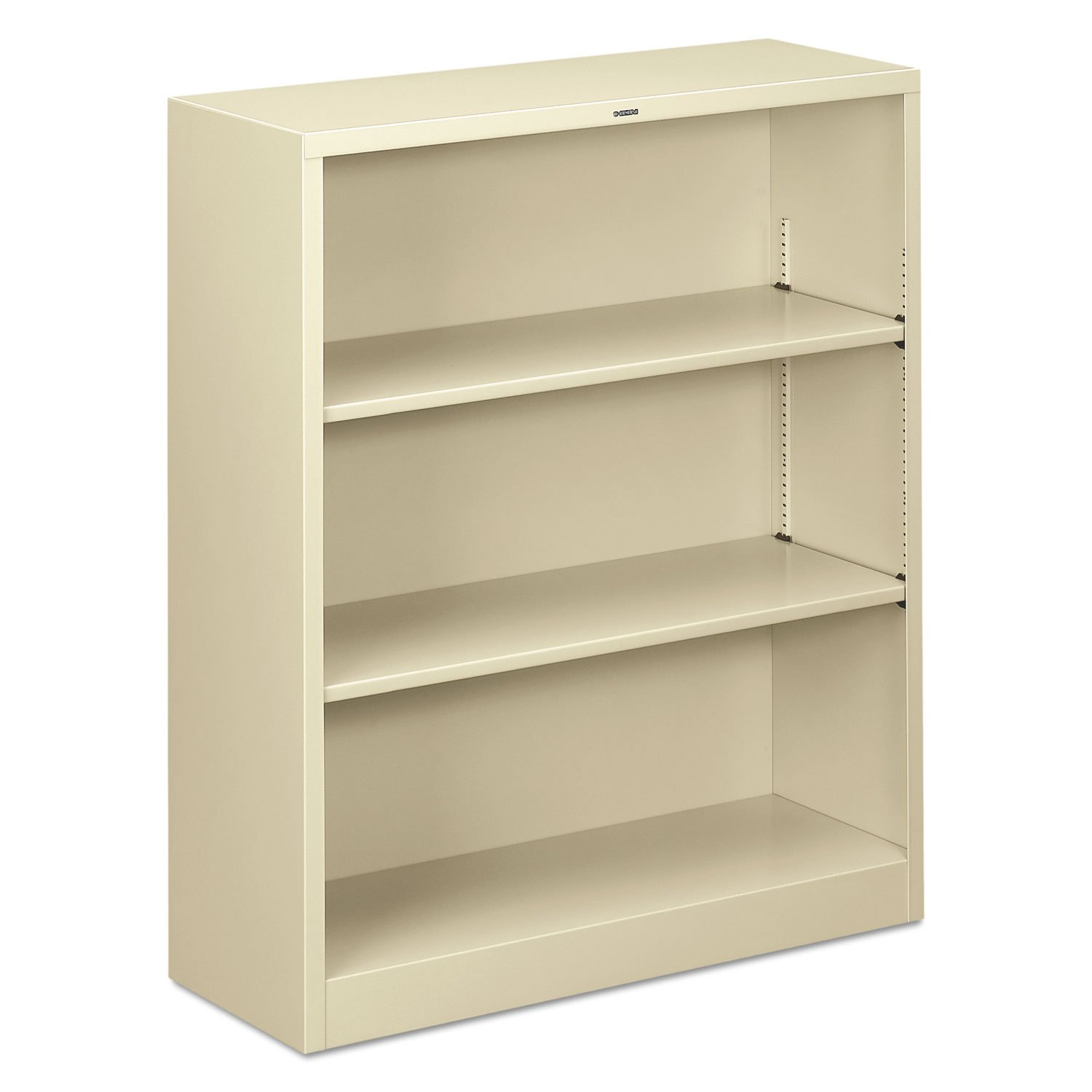 HON Brigade Metal Bookcase - Bookcase with Two Shelves, 34-1/2w x 12-5/8d x 41h, Putty (HS42ABC)