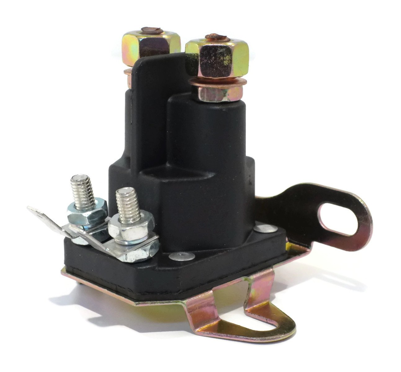 New Universal 4 Post / Pole 12 Volt RELAY SOLENOID for Lawn Mower Rider Tractor