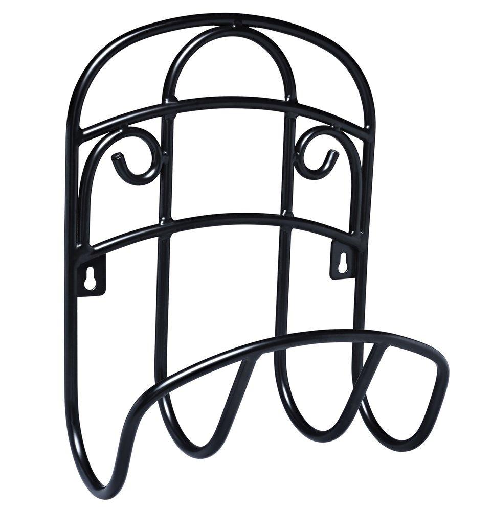 Liberty Garden 231 Wall Mount Decorative Wire Garden Butler Hose Hanger, Black by Liberty Garden Products