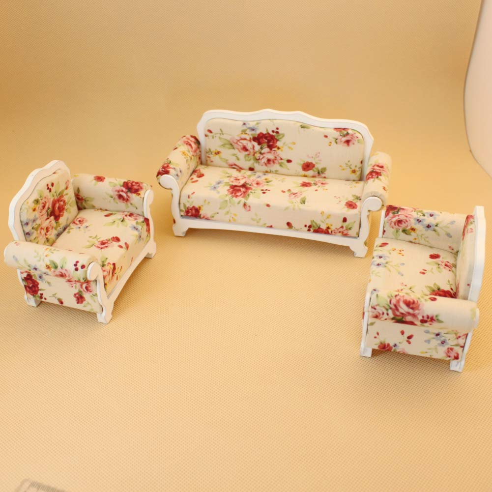 Super Amazon Com Ouyawei 3Pcs Mini Wooden Cloth Sofa Set Dailytribune Chair Design For Home Dailytribuneorg