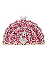 Fawziya Peacock Evening Bag Glitter Cute Animal Clutch Bags For Women Purses And Clutches