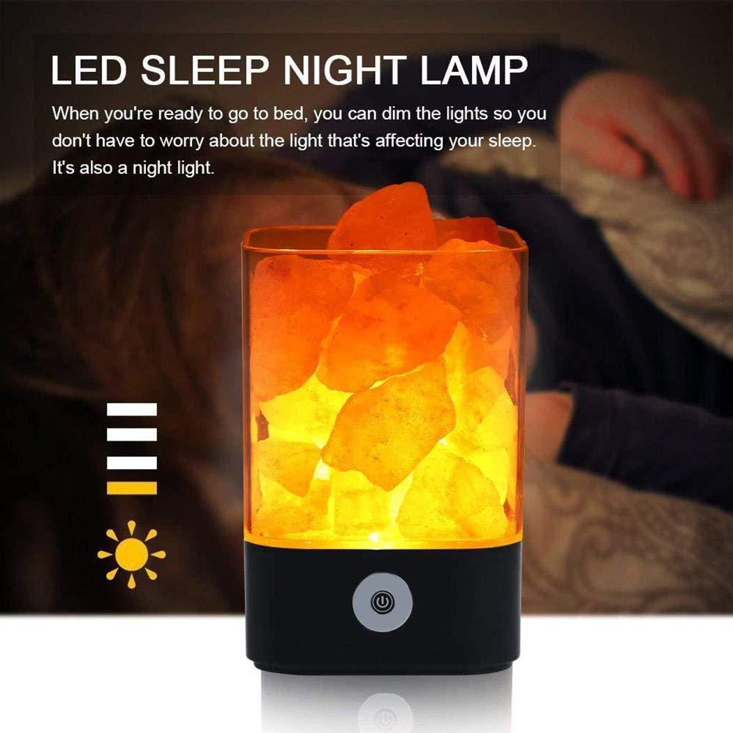 Bluefringe Night Light M2 Himalayan Crystal Salt Lamp Natural Negative Ion USB Charging Creative Gift