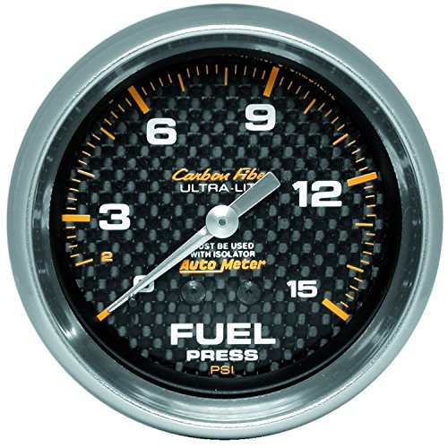 Pressure Isspro Gauge Fuel (Auto Meter 4811 Carbon Fiber Mechanical Fuel Pressure Gauge)