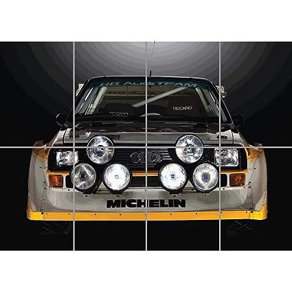 AUDI SPORT QUATTRO S1 RALLY CAR GIANT WALL ART PRINT PICTURE AFICHE CARTEL IMPRIMIR CARTELLO POSTER